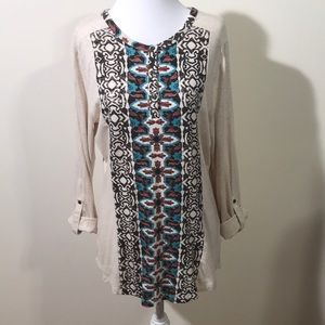 Denim & Co Patterned Cotton/ Modal Tunic